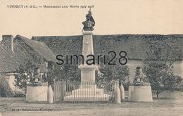 VINDECY - MONUMENT AUX MORTS 1914-1918 - France
