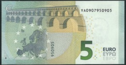 € 5 GREECE  Y001 G2  DRAGHI  UNC - 5 Euro