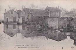 95 ARGENTEUIL  CRUE De La SEINE  Janvier 1910  Les VILLAS Inondées Se Reflètent Dans L' EAU  PUB Dos Bouillon MAGGI - Argenteuil