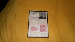 CARTE D'IDENTITE DE 1939. / BROU SUR CHANTEREINE. / CACHETS ET MARQUE BROU SUR CHANTEREINE + TIMBRES FISCAUX - Zonder Classificatie