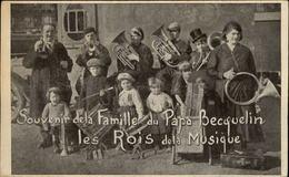 MUSIQUE - INSTRUMENTS DE MUSIQUE - Souvenir De La Famille Du Papa Becquelin, Les Rois De La Musique - Vieux Papiers