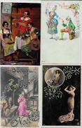 Lot N°198 De 100 CPA CPSM Fantaisies Illustrateurs Déstockage Pour Revendeurs Ou Collectionneurs PORT GRATUIT FRANCE - Postales
