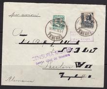 España 1938. Canarias. Carta De Tenerife A Berlin. Censura. - Marcas De Censura Nacional