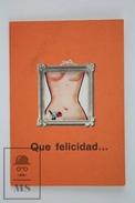1976 Humour Comic Small Die Cut Pocket Calendar - Happy Cow/ Lady Body - Calendarios