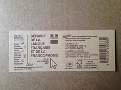 (2017) - Carnet 12 VP / Lettre Prioritaire - Semaine De La Langue Française Et De La Francophonie - 2013-... Marianne Di Ciappa-Kawena