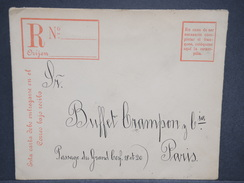 CHILI - Entier Postal Recommandé De Santiago Pour La France En 1911 - L 6985 - Chili