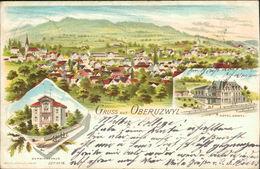 AK Oberuzwil Oberuzwyl, Gruss Aus Litho, O 1902, Briefmarke Entfernt (8006) - SG St. Gall