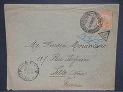 URUGUAY - Enveloppe De Montevideo Pour La France En 1903 , Taxé - L 6988 - Uruguay