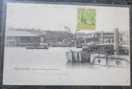 Maurice Ile  Port Louis Quai Showing The Crane Obliteration Timbre 3 Cents 1907 Mauritius - Maurice
