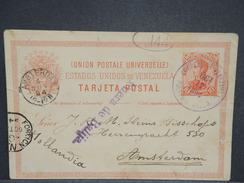 VENEZUELA - Entier Postal De Puerto Cabello Pour Amsterdam En 1894 - L 6994 - Venezuela