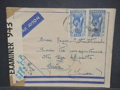 FRANCE / SÉNÉGAL - Enveloppe De Thées Pour La Suisse En 1942 Avec Contrôle Postal - L 7005 - Sénégal (1887-1944)