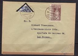 España 1937. Canarias. Correo Interno De Las Palmas. Censura. - Marcas De Censura Nacional