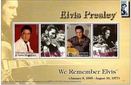 We Remember Elvis 2007 ** Sheet Elvis Presley Grenada Carriacou & Petite Martinique LOT C62 - Grenade (1974-...)