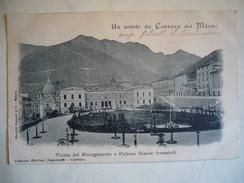 CARRARA DEI MARMI  PIAZZA DEL RISORGIMENTO E  PALAZZO SCUOLE FEMMINILI - Carrara