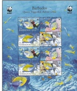 Barbados, Scott 2014 # 1105a, Issued 2006, S/S Of 8, MNH, Cat $ 13.00, WWF, Fish LOT C64 - Barbades (1966-...)