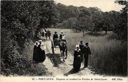 CPA  Pont-Aven - Paysans Se Rendant Au Pardon De Saint-Leyer  (384287) - Non Classés