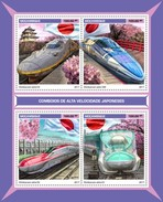 Mozambique - Postfris / MNH - Sheet Japanse Sneltreinen 2017 - Mozambique