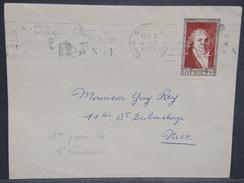 FRANCE - N° 895 Talleyrand Seul Sur Enveloppe De Nice Pour Nice En 1951 , Oblitération Du 1er Jour D 'émission - L 7007 - Marcophilie (Lettres)