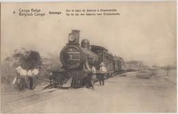 CPA CONGO KATANGA Chemin De Fer Train De Sakania à Elisabethville Entier Postal 1916 - Belgisch-Congo - Varia
