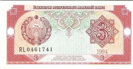 OUZBEKISTAN   3 Sum   1994   P. 74a    UNC - Ouzbékistan
