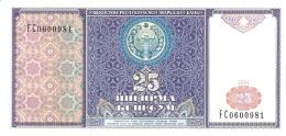 OUZBEKISTAN   25 Sum   1994   P. 77a   UNC - Uzbekistan