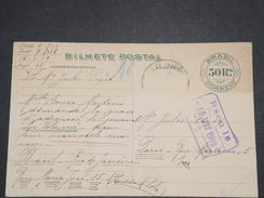 BRÉSIL - Entier Postal De Rio Pour Paris En 1909 - L 7014 - Entiers Postaux
