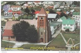 FALKLAND ISL.(GPT) - Christ Church Cathedral, CN : 195CFKA, Tirage 10000, Used