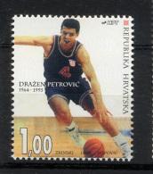 CROATIE CROATIA HRVATSKA 1994, Ann. Mort Basketteur Petrovic, 1 Valeur, Neuf / Mint.  R725 - Basketball