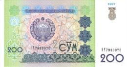 OUZBEKISTAN   200 Sum   1997   P. 80   UNC - Ouzbékistan