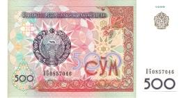 OUZBEKISTAN   500 Sum   1999   P. 81   UNC - Uzbekistan