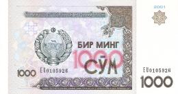 OUZBEKISTAN   1000 Sum   2001   P. 82   UNC - Uzbekistan