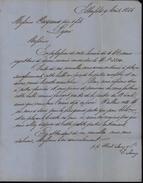 Lettre Copenhague Danemark 1857 Tour Et Taxis Valenciennes CAD En Forme D' Horloge Danoise Taxe Manuscrite - Lettres & Documents
