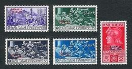 SOMALIA 1930 - Francesco Ferrucci - MH - Sa:IT SO 133-137 - Somalia
