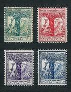 SOMALIA 1928 - Pro Società Africana D'Italia - MH - Sa: IT SO 112-115 - Somalia