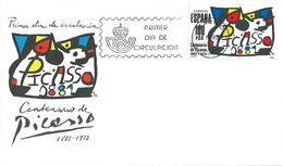 Spanien 1981: FDC Mit Sondermarke Nr. 2493°; 100. Geburtstag Pablo Picasso - Ganzsachen