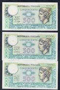 500 LIRE MERCURIO 1974 - 1976 - 1979 Sup/fds LOTTO 1689 - [ 2] 1946-… : Repubblica