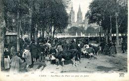 N°53319 -cpa Caen -la Place Du Parc Un Jour De Foire- - Fiere
