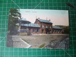Engis. La Gare. Cachet Poste De 1919 - Engis