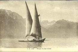 Lac Léman  Barque Du Lac Léman Coupé En Haut  Non Voyagée - Bateaux
