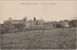 SOUVIGNARGUES (34) - LE CHATEAU - L'EGLISE - France