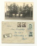 2 Belege - Chotieschau - Chotesov - Detail - Beflaggung - Tschechische Republik