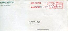 20766 U.s.a. Red Meter/freistempel/ema/ Camp Hill 1992  Holy Spirit Hospital., Circuled Cover - Cristianesimo