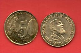 EUROS PRUEBA -  VATICANO -  50 Cents. Beato Padre Pio  - PRUEBA - EURO