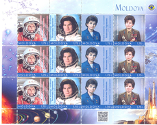 2017. Space, Valentina Tereshkova, First Woman-Cosmonaut, Jubilee, Birth Day Anniversary, Sheetlet, Mint/** - Space