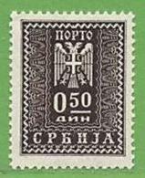 MiNr.16P Xx Deutschland Besetzte Gebiete II.WK Serbien,Portomarken - Bezetting 1938-45