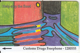 JERSEY ISL. - Anti Drugs 3/Help Stop The Flood, CN : 26JERD(normal 0), Tirage %20000, Used