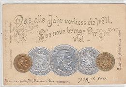 Deutscher Kaiser, König Von Preussen Mit Goldmünzen - Prägelitho - 1899       (A33-110608) - Münzen (Abb.)