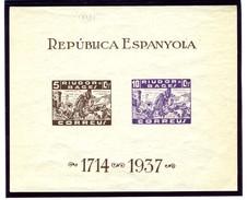 Guerra Civil Hojita Bloque RIUDOR BAGES GG N° 1160  R   *.   V288 - Viñetas De La Guerra Civil