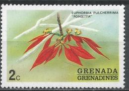 Grenada Grenadines 1975. Scott #52 (MNH) Poinsettia Flowers * - Grenade (1974-...)