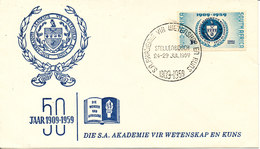South Africa FDC 1959  50th Anniversary Of Academy Of Science And Art With Cachet - Südafrika (...-1961)